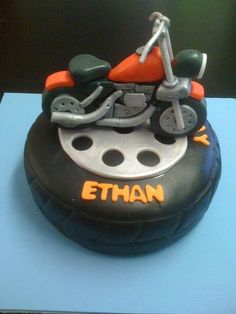 not the base cake, just the motorcycle decal? I'll try... #cakespiration cake idea, joe birthday, motorcycl cake, motorcycl decal, base cake