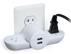 Pivot Power Mini Wall Plug with 2 USB Ports