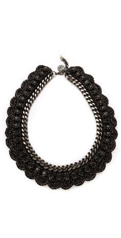 Click Image Above To Buy: Venessa Arizaga Black Bowie Necklace