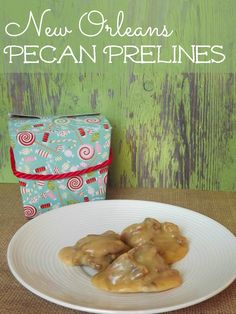 Here is a YUMMY New Orleans Style Pecan Pralines Recipe you may want to check out if you are making Christmas Candy! #candyrecipes