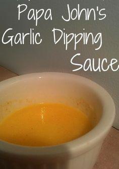 Papa Johns Garlic Sauce