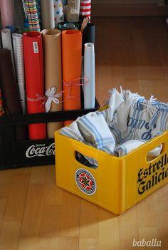 recycling soda box / reciclar caja refrescos