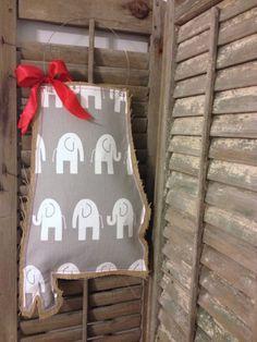 Alabama Burlap Door Hanger  Elephants by MagnoliaBelleDesigns, $35.00