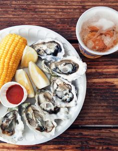 oysters + corn on the cob?  who knew?