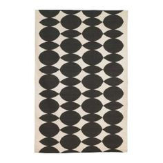 Rug black shapes