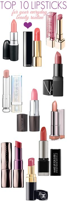 Top 10 lipsticks for your everyday beauty routine.