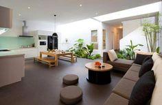 Jardim em ambiente integrado.