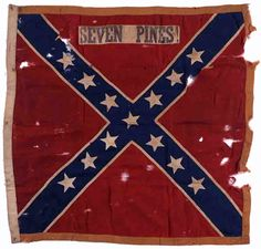Confederate Battle Flags that were at the battle of Gaines Mill.