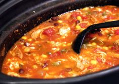Crockpot Chicken Enchilada Soup  Made 1/6/14-  super easy, added mexican rice