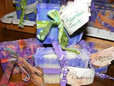 Lisa's Bear Butt Soaps smell amazing! They help calm the mind (and they're home-made)!