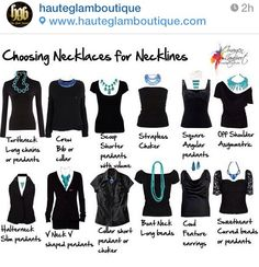 This is how you choose the right necklace for the right neckline.
