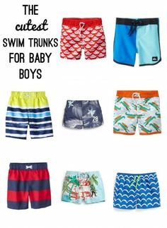 The Cutest Swim Trunks for Baby Boys