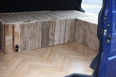 pine dar frame and faced with reclaimed pallet wood