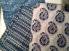Indigo scarves just