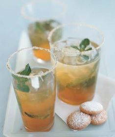 Iced Green Tea With Ginger and Mint #recipe