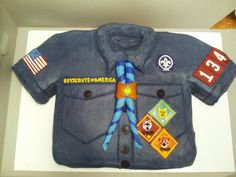 Boy Scout Cake - great for Blue & Gold Banquet!