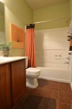 Guest bathroom with upgraded counters.