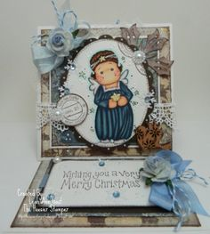 Tilda as Christmas angel, So Jolly collection, Magnolia stamps