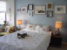 Bedroom - blue wall
