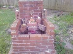Fae outdoor altar converted from an old grill. #wiccan #pagan