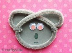 Sweet koala bear craft...maybe glue it onto a jumbo popcicle stick.
