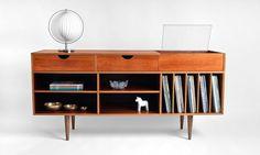 record cabinet, midcenturi, design shop