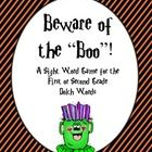 FREE Beware of the Boo!  A Halloween Sight Word Game grades 1 and 2
