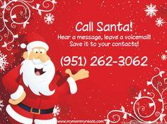 Santa's phone number!