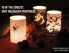 10 of the coolest, easy Halloween printables. No glue guns required.