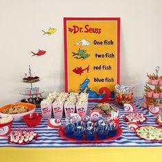 Dr Seuss Dessert/Snack Table
