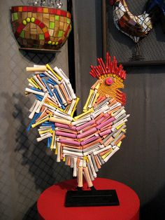 Reclaimed rollers = Roller Roosters :)