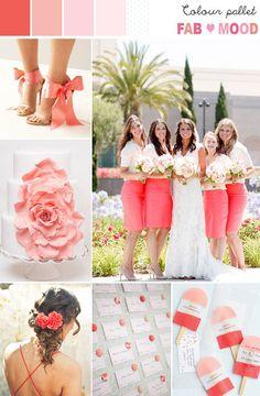 Coral & Pink Wedding Colour Palette   fabmood.com
