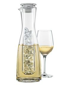 Keeps white wine cold without watering it down.  smart!