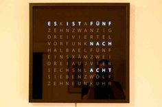 QLOCKTWO Word Clock DIY by Christaian Aschoff: Gorgeous!