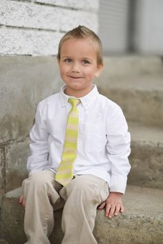 Yellow and Tan Tabs Tie for boys. On sale now for $10! #taylorjoelle #ties #boys #kidsfashion