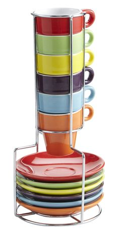 Serving espresso is easy with these practical stacking mugs