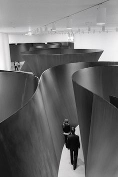 Noted, AVL: sculptural installation by Richard Serra. Moving through his work is a full body experience.