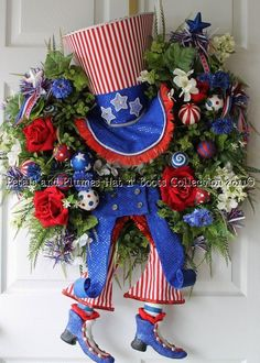 4th of July wreath!!!