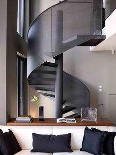 Urban Loft   Charis Gkikas  Evaggelia Filtsou modern house design, interior design, lofts, studio apartments, stairs, tv rooms, urban loft, spiral staircases, loft design