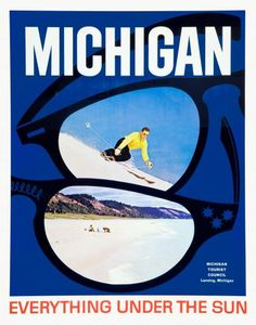 1960s Michigan Ski Poster