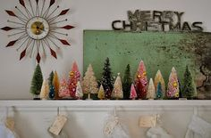 DIY bottlebrush trees