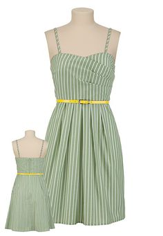 Striped belted tank dress from Maurices.