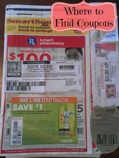 Where to Find Coupons!