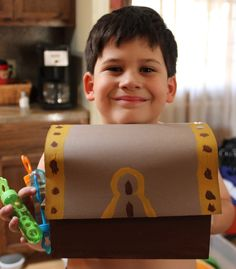 DIY Treasure Chest -- such a cute idea!