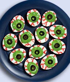 Eyeball Deviled Eggs & Other Halloween Party Food Ideas