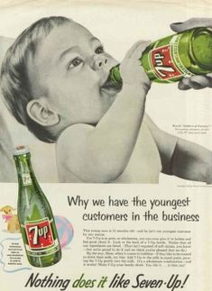 7-Up is for babies! A 50s era ad campaign tried to suggest as much. Better than booze, I guess.