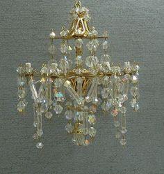 miniature dollhouse crystal chandelier.