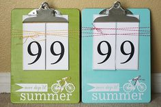 Countdown To Summer Clipboard Craft
