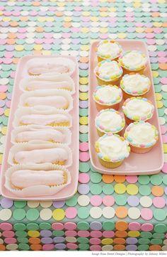 cupcak, cake, pastel colours, candi, scavenger hunts, pastel party, easter treats, parti, dessert