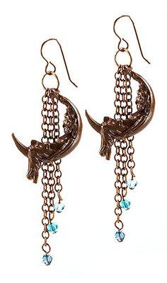 Jewelry Making Idea: Maiden in the Moon Earrings (eebeads.com)